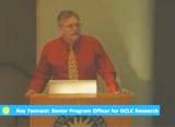 Roy Tennant at the podium