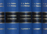 book spines from Taxonomic Literature 2