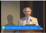 Dr. Jay M. Pasachoff at the podium