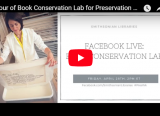 YouTube video thumbnail of Tour of Book Conservation Lab for Preservation Week