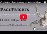 YouTube video thumbnail of PageFrights tour of rare anatomy books in the Dibner Library