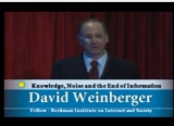 David Weinberger at the podium
