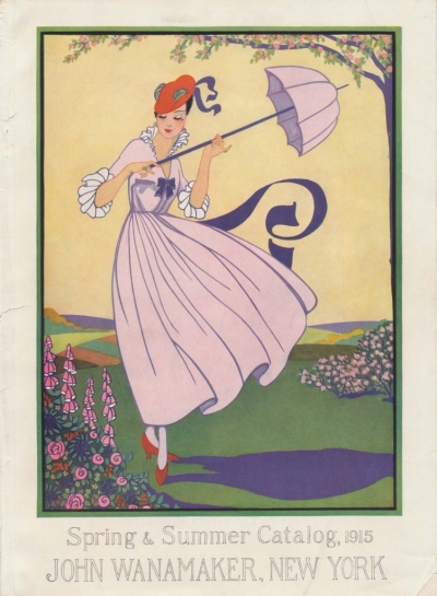 1915 John Wanamaker Spring and Summer Catalog front cover