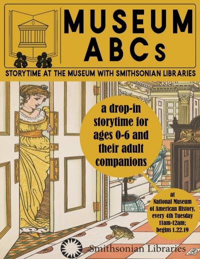 flyer for Museum ABC storytime event