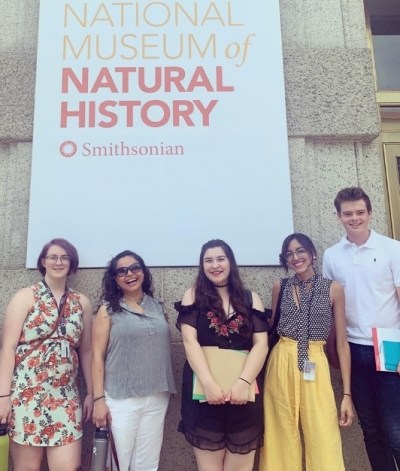 SIL interns in front of NMNH