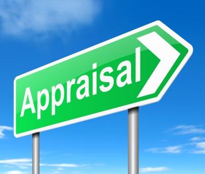 A green Appraisal sign
