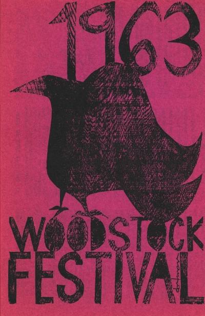 Woodstock Festival brochure cover 1963